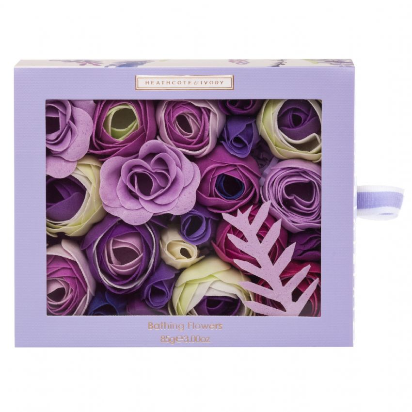 Lavender Fields - Floral Bathing Flowers Soap Petals 85g Heathcote & Ivory